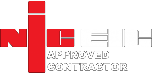 NIC EIC Approved Contractor logo.